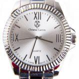 Montre ronde argent bracelet à maillons Homme CHRISTIAN LACROIX marque pas cher prix dégriffés destockage