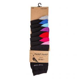 Lot de 7 paires de chaussettes Brooke Femme NAF-NAF marque pas cher prix dégriffés destockage
