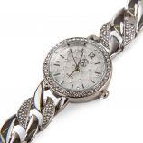 Montre ronde strass bracelet chaîne maillons Femme CHRISTIAN LACROIX