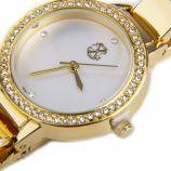 Montre ronde strass bracelet rigide et maillons Femme CHRISTIAN LACROIX