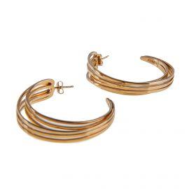 Boucles d'oreilles plaquées or femme KENZO marque pas cher prix dégriffés destockage