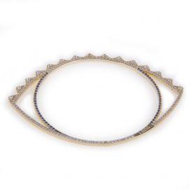 Bracelet Oeil plaqué or Femme KENZO