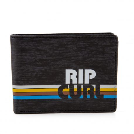 Portefeuille noir mixte NEW PU ROCKERED RIP CURL marque pas cher prix dégriffés destockage