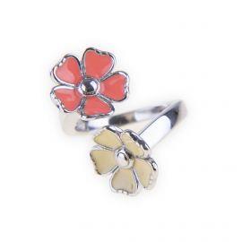 Bague fleurs Argent rhodié femme KENZO marque pas cher prix dégriffés destockage