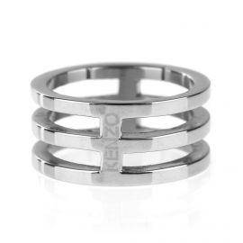 Bague anneaux rhodié homme KENZO