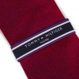 Cravate rouge Homme TOMMY HILFIGER marque pas cher prix dégriffés destockage