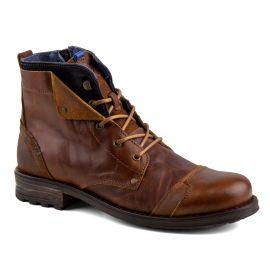 Boots marron cuir zip latéral Homme ORLANDO marque pas cher prix dégriffés destockage