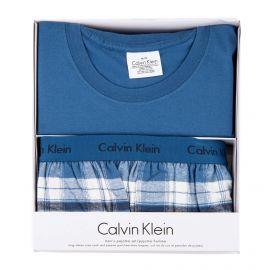 Coffret ensemble pyjama bleu Homme CALVIN KLEIN