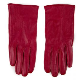 Gants en cuir rouge Femme NAT ET NINN marque pas cher prix dégriffés destockage
