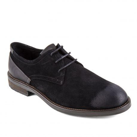 Chaussures derbies noires cuir retourné Gliss Homme PIERRE CARDIN marque pas cher prix dégriffés destockage