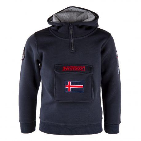 Sweat capuche col zippé Enfant GEOGRAPHICAL NORWAY