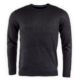 PULL COL ROND COUDIERE ANTHRACITE