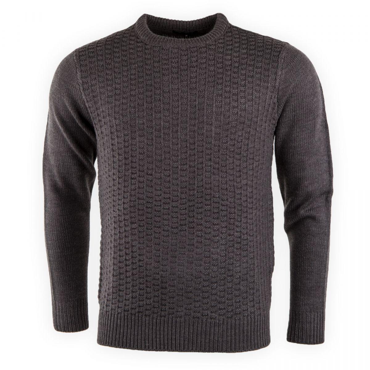 pull gris col rond maille tricot e homme torrente prix. Black Bedroom Furniture Sets. Home Design Ideas