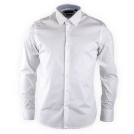 Chemise blanche slim fit manches longues Homme TORRENTE