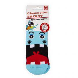 Chaussettes Bouclette coton imprimé hippopotame Enfant AZERTEX marque pas cher prix dégriffés destockage