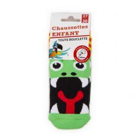Chaussettes Bouclette coton imprimé serpent Enfant AZERTEX marque pas cher prix dégriffés destockage