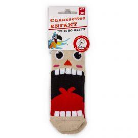 Chaussettes Bouclette coton imprimé lapin Enfant AZERTEX marque pas cher prix dégriffés destockage