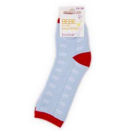 Chaussettes hautes bouclettes flocon coton & élasthanne Bébé AZERTEX marque pas cher prix dégriffés destockage