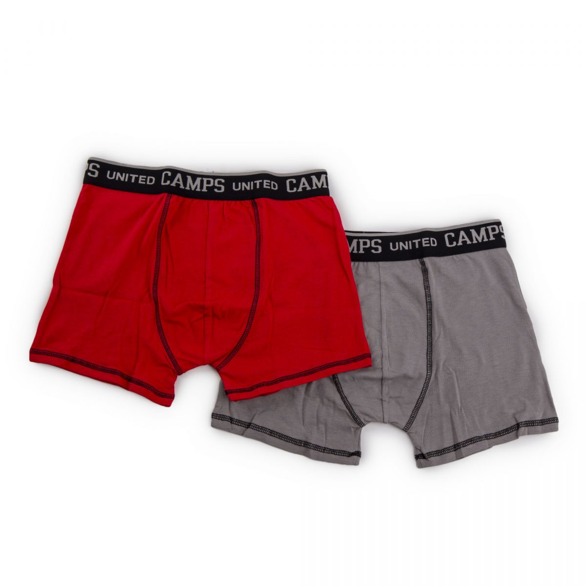 lot de 2 boxers unis coton homme camps united prix. Black Bedroom Furniture Sets. Home Design Ideas
