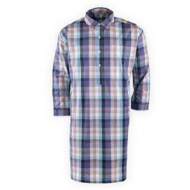 Chemise de nuit coton à carreaux homme ARTHUR marque pas cher prix dégriffés destockage