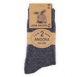Lot de 2 paires de chaussettes laine angora Homme AZERTEX