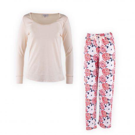 Pyjama rose imprimé femme ARTHUR marque pas cher prix dégriffés destockage