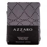 Drap housse gris 140x200cm 100% percale de coton AZZARO marque pas cher prix dégriffés destockage