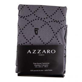 Drap housse 100% percale de coton 160X200cm AZZARO