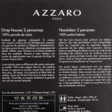 Drap housse taupe 140x200cm 100% percale de coton AZZARO marque pas cher prix dégriffés destockage