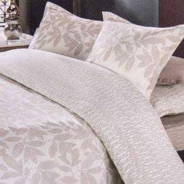 Parure de lit housse de couette & taies d'oreiller percale de coton AZZARO