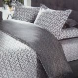 Parure de lit housse de couette & taies d'oreiller percale de coton AZZARO marque pas cher prix dégriffés destockage