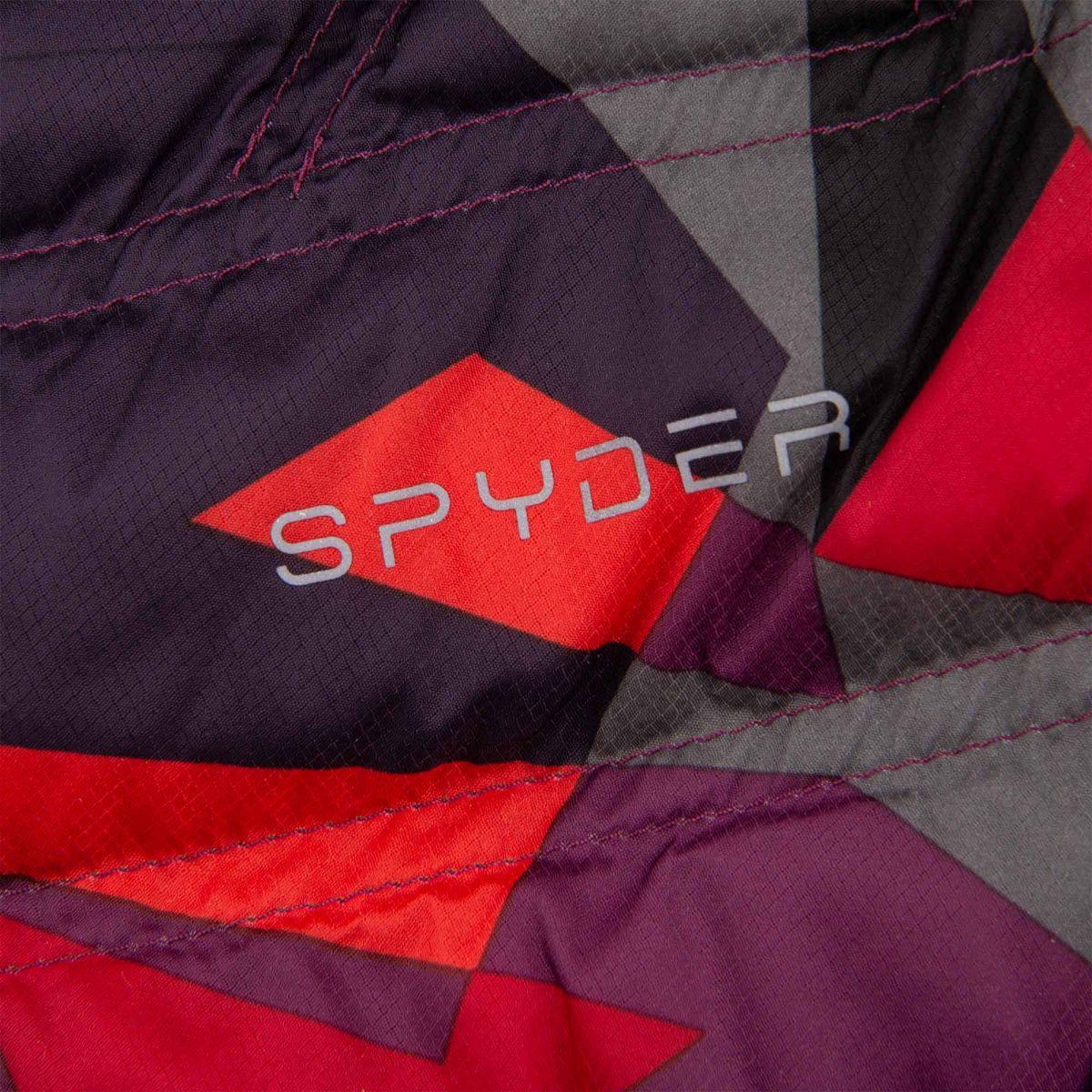 Doudoune ski imprimée multicolore femme SPYDER à prix dégriffé !