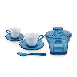 Set de 2 tasses à café /sous-tasses/cuillère/sucrier GUZZINI marque pas cher prix dégriffés destockage