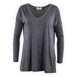 Tee shirt basique manches longues femme Yolla Bolly AMERICAN VINTAGE marque pas cher prix dégriffés destockage
