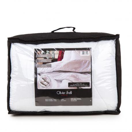 Set couette blanche 240X220 cm OLIVIER STRELLI marque pas cher prix dégriffés destockage