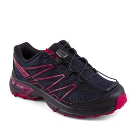 Baskets noir et rose Quicklace femme Wings Access SALOMON