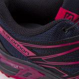 Baskets noir et rose Quicklace femme Wings Access SALOMON marque pas cher prix dégriffés destockage