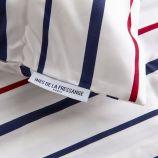 Taie d'oreiller x2 à rayures 50x70cm INES DE LA FRESSANGE PARIS marque pas cher prix dégriffés destockage