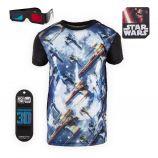 Tee shirt Star Wars 3D Relief Vaisseau Luke X-Wing Enfant FREEGUN marque pas cher prix dégriffés destockage