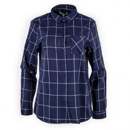 qualité supérieure plus de photos sortie en vente Chemise bleu marine à carreaux femme BEST MOUNTAIN