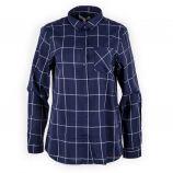 Chemise bleu marine à carreaux femme BEST MOUNTAIN