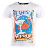 Tee shirt blanc flamingo homme BEST MOUNTAIN