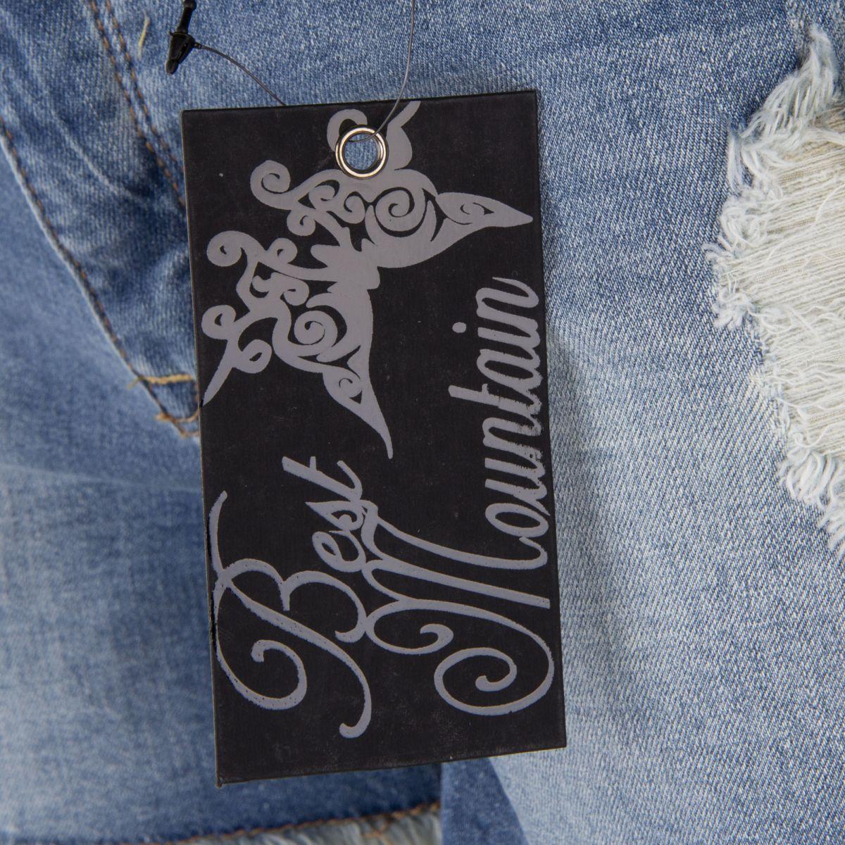 short en jean bleu d lav destroy femme best mountain. Black Bedroom Furniture Sets. Home Design Ideas