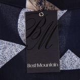 Haut sans manches bleu foncé à motif femme BEST MOUNTAIN marque pas cher prix dégriffés destockage