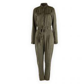 Combinaison pantalon kaki femme TOMMY HILFIGER marque pas cher prix dégriffés destockage