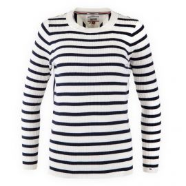 Pull rayé manches longues femme TOMMY HILFIGER