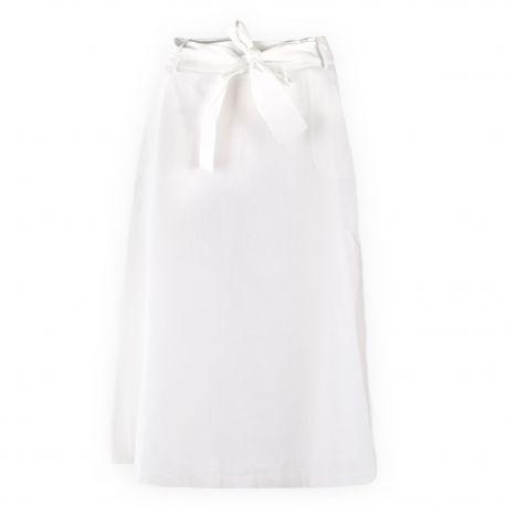 Jupe blanche midi femme TOMMY HILFIGER marque pas cher prix dégriffés destockage