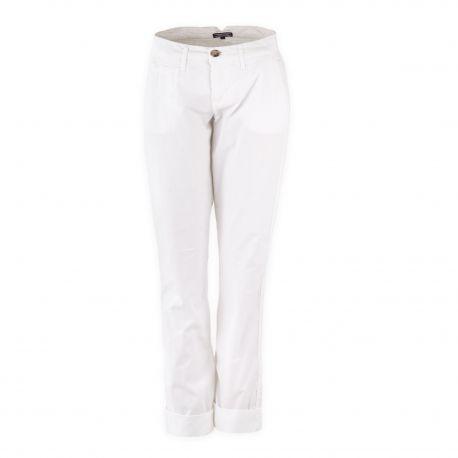 Pantalon chino blanc femme TOMMY HILFIGER marque pas cher prix dégriffés destockage