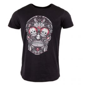 Tee shirt manches courtes tête de mort Homme Red PARAGOOSE