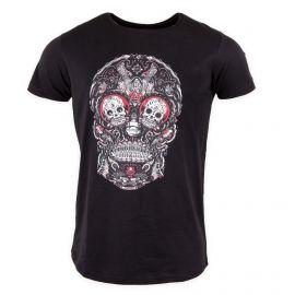 Tee shirt manches courtes tête de mort Homme Red PARAGOOSE marque pas cher prix dégriffés destockage